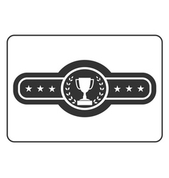 Champion belt icon Award vector image vector image