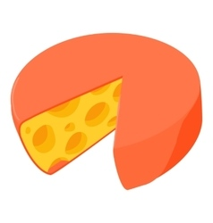 Cheese icon cartoon style vector