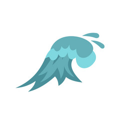 Clear wave icon cartoon style vector