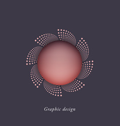 creative abstract logo design vector image