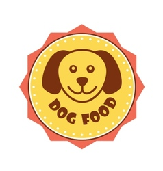 Dog food label vector