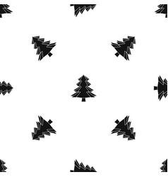 Fir tree pattern seamless black vector