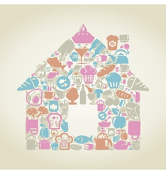 Food the house vector image