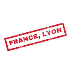 France lyon rubber stamp vector