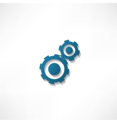 gears isolated object on white background vector image vector image