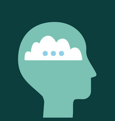 head silhouette mind vector image vector image