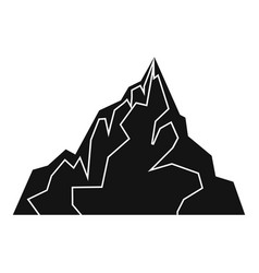 Iceberg icon simple style vector