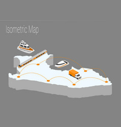 map peru isometric concept vector image vector image