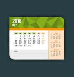 may calendar isolated icon vector image