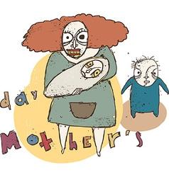 Mothers day cartoon vector