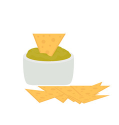 nachos icon flat cartoon style isolated on white vector image