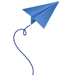origami airplane in blue color vector image