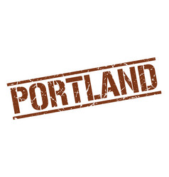 Portland brown square stamp vector