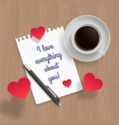 Quote i love everything about you vector
