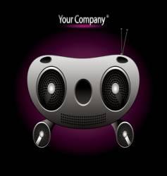 radio music editable vector image