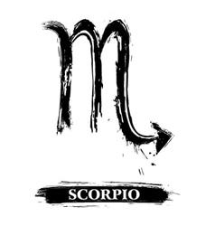 Scorpio symbol vector image vector image