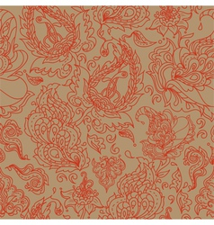 seamless background with a paisley ornament vector image