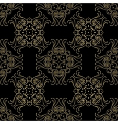 Seamless texture with luxury arabic damask vector image vector image