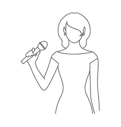 Singerprofessions single icon in outline style vector