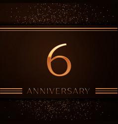Six years anniversary celebration logotype vector