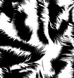 Snow tiger stripes in a seamless pattern vector image