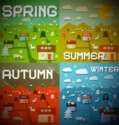 Spring summer autumn winter - four seasons vector