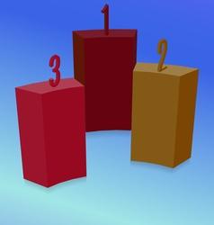 Three colored blocks vector
