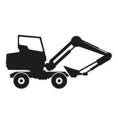 tractor sign black icon on vector image vector image