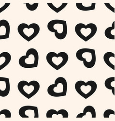 valentines day background seamless pattern with vector image vector image