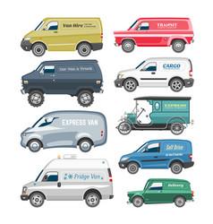 van car minivan delivery cargo auto vehicle vector image