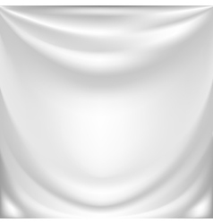 White silk drapery vector