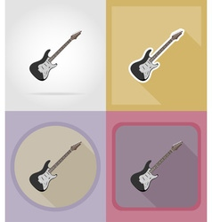 Music items and equipment flat icons 07 vector