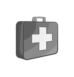First aid kit icon black monochrome style vector