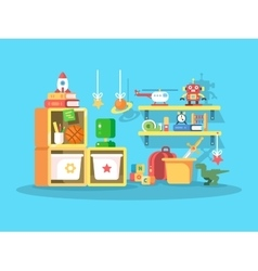 Interior of child room vector image