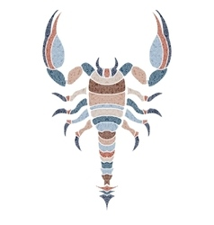 Bright scorpion zodiac scorpio sign vector