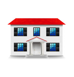 house with large black windows isolated on white vector image