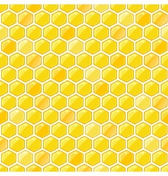 Seamless pattern with honeycombs vector