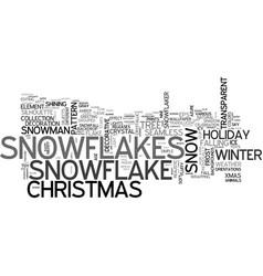 Snowflakes word cloud concept vector