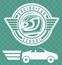 Racing school design vector