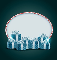 Shiny gift box vector
