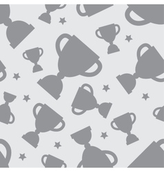 Seamless pattern with winners cup vector