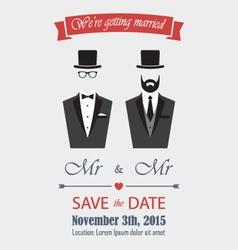 Gay wedding invitation vector