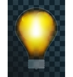 Bulb lamp transparent isolated vector