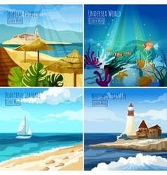 Seascape set vector