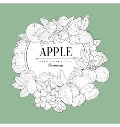 Apple set vintage sketch vector