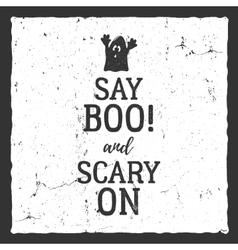 Halloween typography label template vector