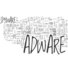 adware is a pain but you can deal with fast text vector image vector image