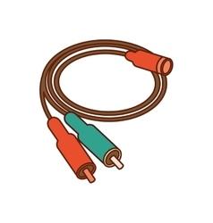 audio plug connector icon vector image