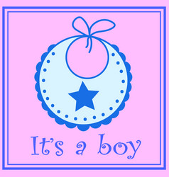 Baby bib for boy vector