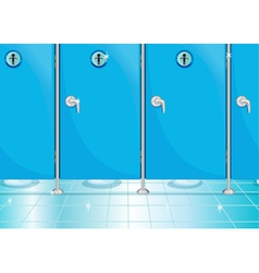 Bathroom doors vector